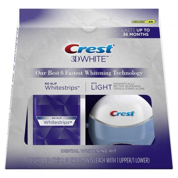 画像1: Crest 3D White Whitestrips with Light Teeth Whitening Kit クレスト ホワイトストリップ&LEDライト ホワイトニングセット (1)