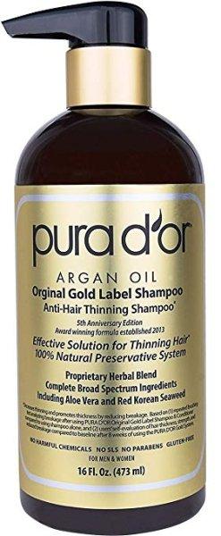 画像1: PURA D'OR Original Gold Label Anti-Thinning Shampoo Pura d'or プラドール プレミアム オーガニック 男性&女性 抜け毛予防シャンプー 育毛増毛 (1)