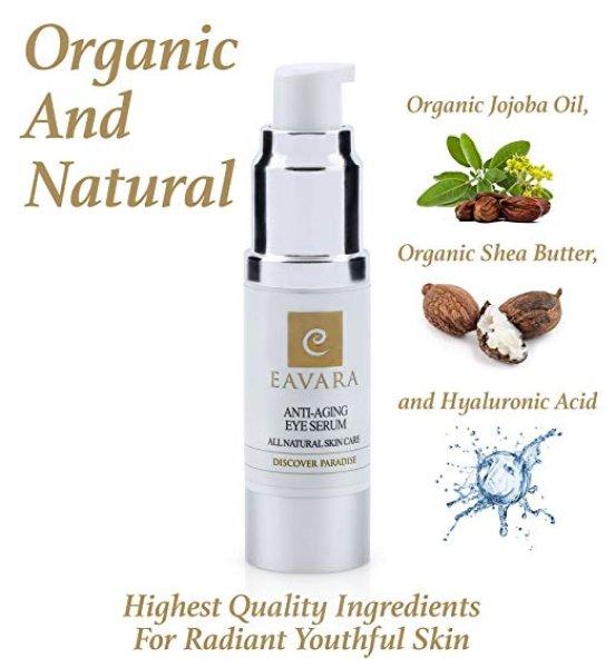 画像1: Organic Anti Aging Eye Cream -Eavara/イーバーラー天然成分エイジングケアアイクリーム   (1)